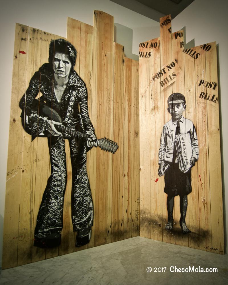 """David Bowie & Stencil Boy"""