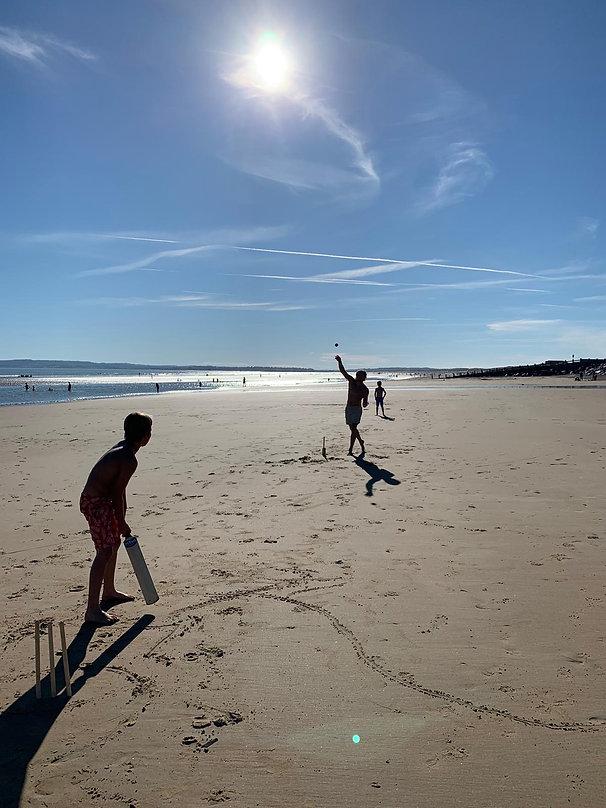 Felix beach cricket.JPG