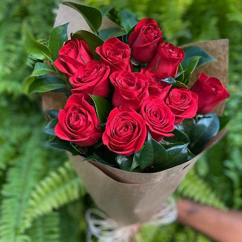 Cone de Rosas Vermelhas