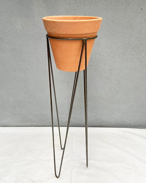 Suporte Garça & Vaso de Cerâmica