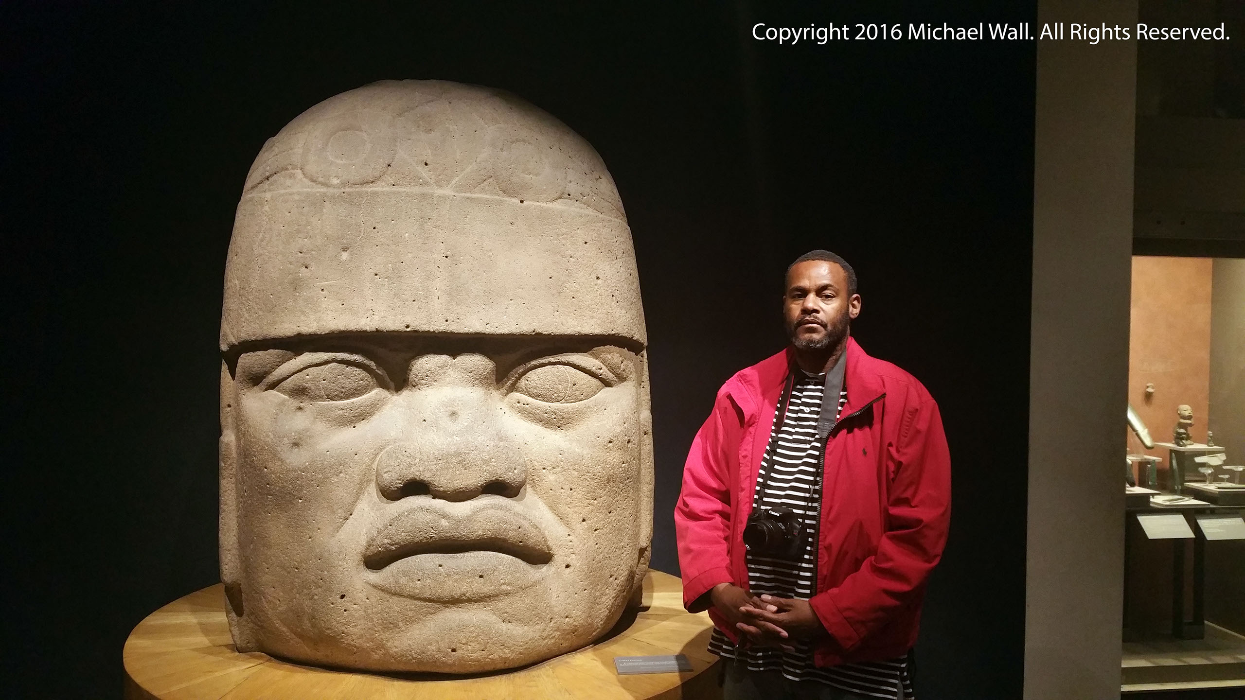 michael wall and olmec head