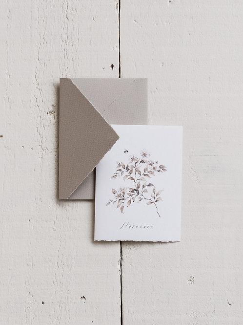 cartão 'florescer'