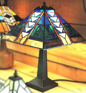 Stained Glass Panel Lamp