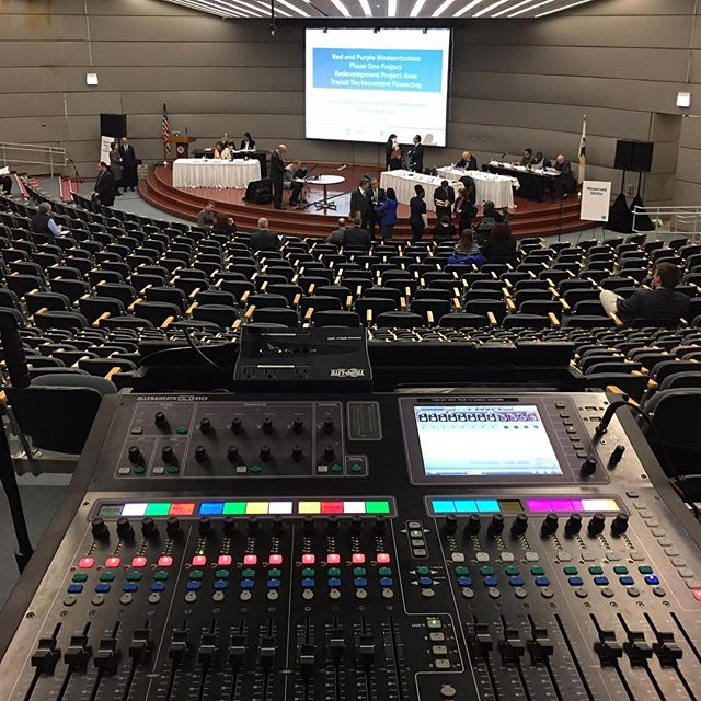 Using eleven handhelds and two confidence monitors at today's event! #ulxd #shure #GLD80
