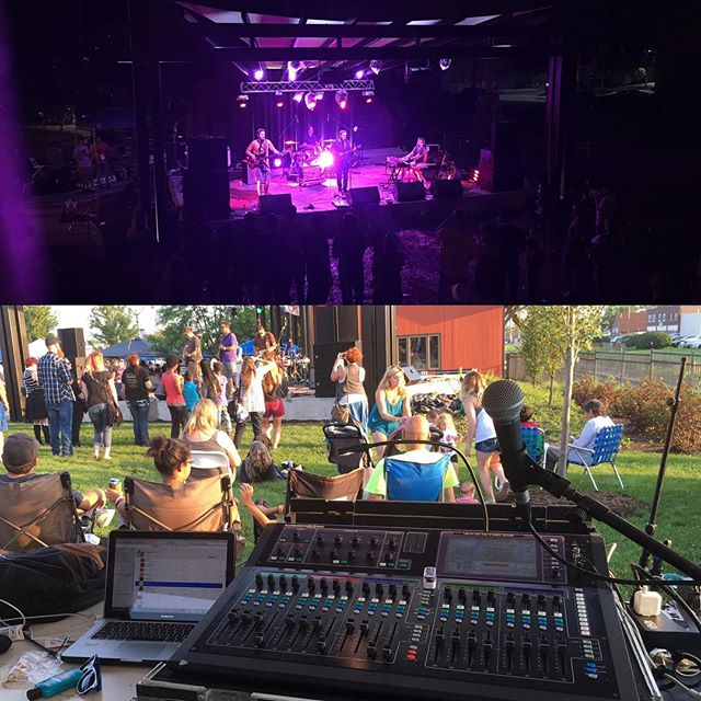 Had fun providing sound for one of the stages at a two day music festival this weekend!