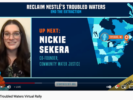 WATCH RECORDING OF NESTLE'S TROUBLED WATERS RALLY