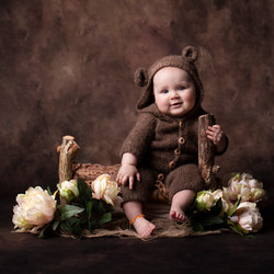 9 month old dressed as bear