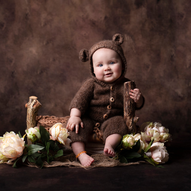 Cute Toddler in bunny outfit
