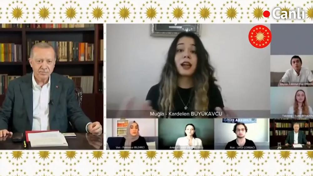 yks-öncesi erdoğan öğrencilerle buluştu