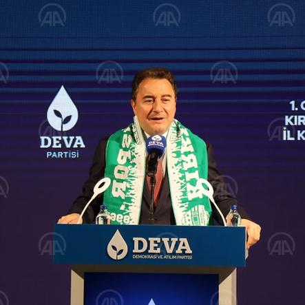 DEVA Partisi Genel Başkanı Ali Babacan, Kırklareli'nde