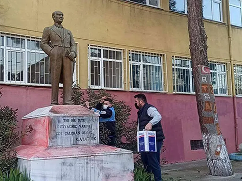 Süleyman Soylu açıkladı | Atatürk heykel ve büstlerine saldıran zanlı yakalandı