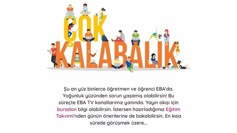 EBA çöktü! | Öğrenciler 'Çok kalabalık' uyarısı alıyor