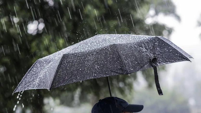 şemsiyeli adam yağmur