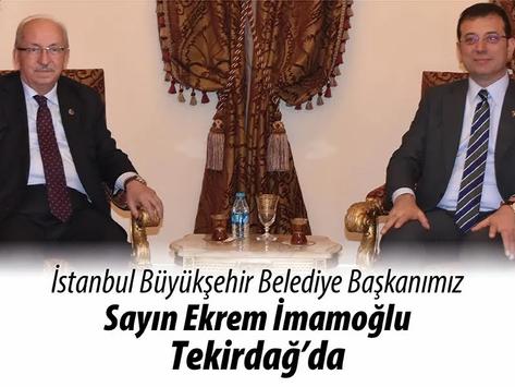 İstanbul Büyükşehir Belediye Başkanı Ekrem İmamoğlu Tekirdağ'a geliyor