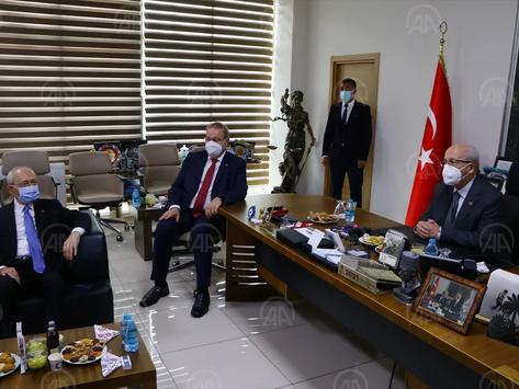 CHP Genel Başkanı Kılıçdaroğlu, Tekirdağ Büyükşehir Belediye Başkanı Albayrak'ı ziyaret etti