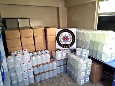 Tekirdağ/Çorlu'da 3 bin 500 litre kaçak etil alkol ele geçirildi