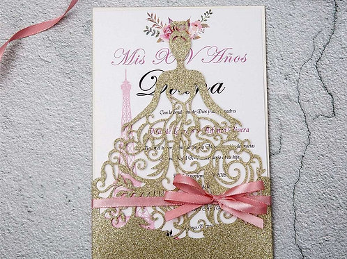 Convite Casamento Vestido Noiva Rendilhado 2021133.WPLVG-350
