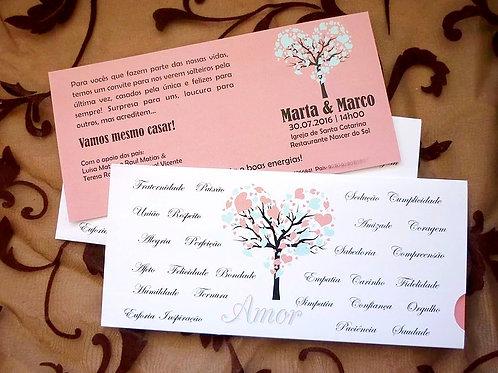 Convite Casamento Árvore Sentimentos 2021096-180