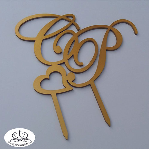 Topo bolo madeira - LCTB013