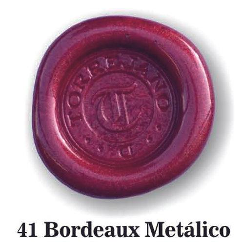 Lacre Bordeaux Metálico n.41