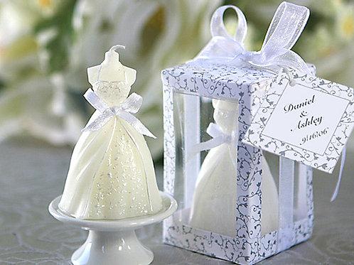 Vela em forma de vestido de noiva - DK2500