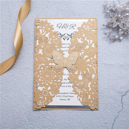Convite Casamento Borboleta WPL0073-320