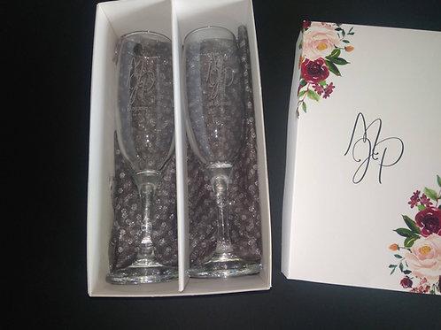 FL002-Flutes Personalizados com caixa personalizada