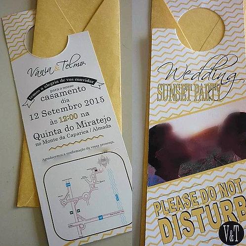 Convite Casamento Do Not Disturb 2021097-170