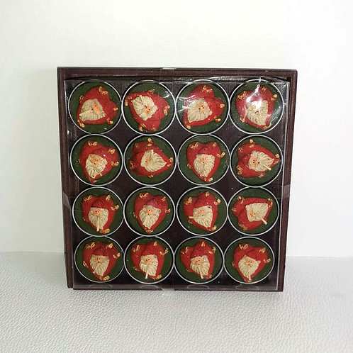 caixa de 16 velas lamparinas natal - NL017