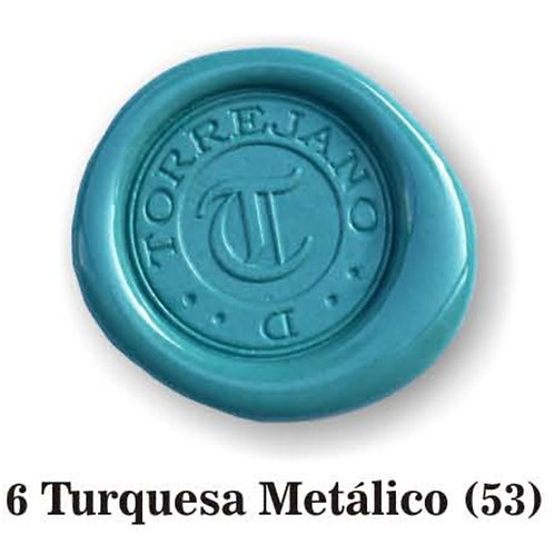 Lacre Turquesa Metálico n.6