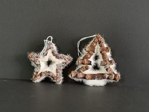 Conjunto 2 peças decoração natal - NL042