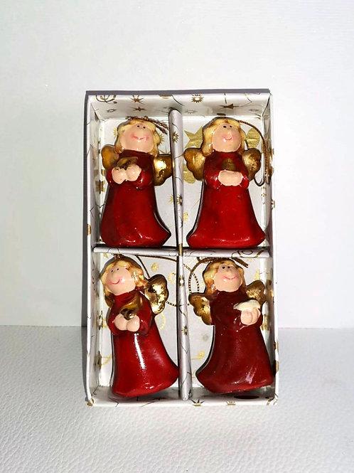 caixa de 4 anjinhos decoração de natal - NL019