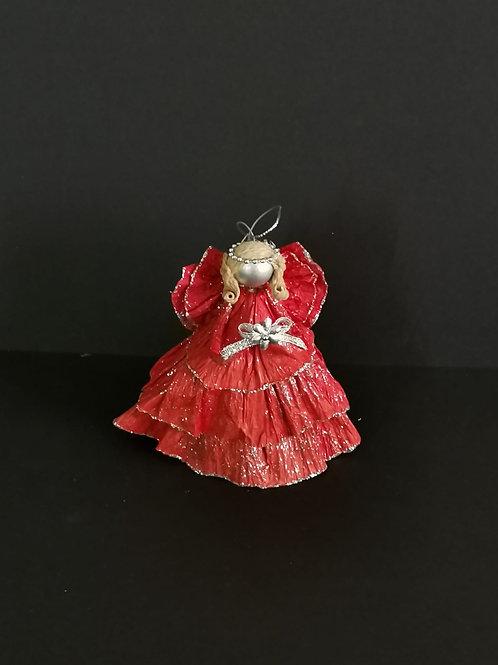 decoração natal anjinho vermelho - NL047