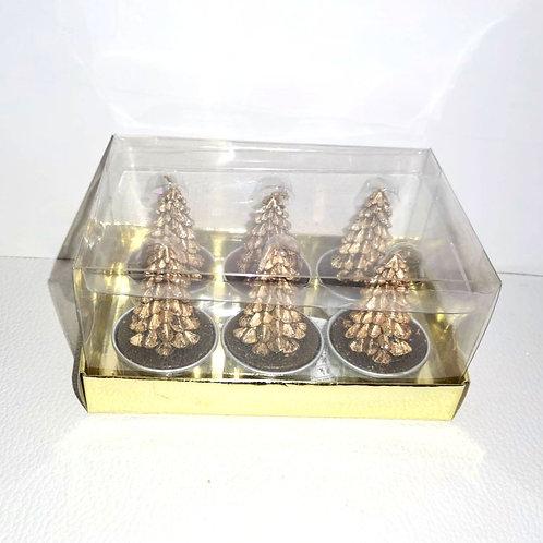 Cojunto 6 velas para lamparinas - NL028