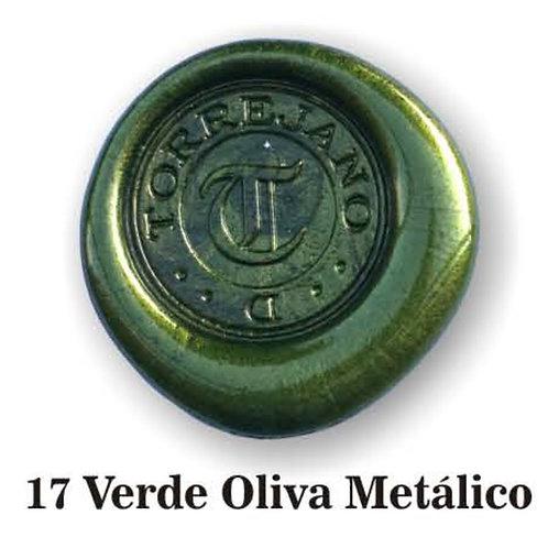 Lacre Verde Oliva Metálico n.17