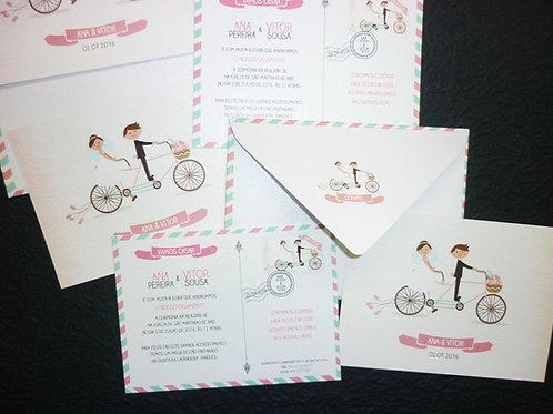 Convite Casamento Postal 2021055-190