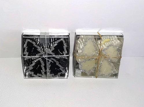 Vela de natal caixa 4 unidades  - NL014
