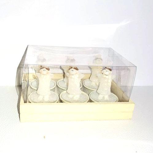 Cojunto 6 velas para lamparinas - NL027