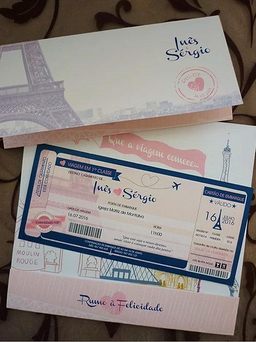 Convite Casamento Viagem Paris 2021076-190