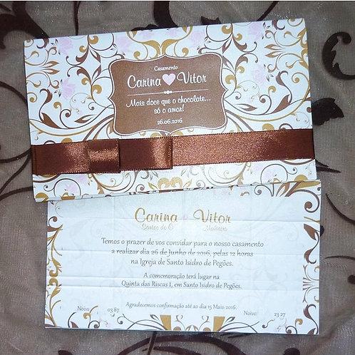 Convite Casamento Chocolate 2021057-250
