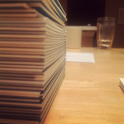 Stacking paper for the next batch of sketchbooks