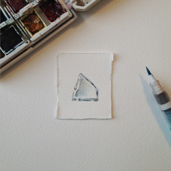 Stamp-sized Watercolor Painting