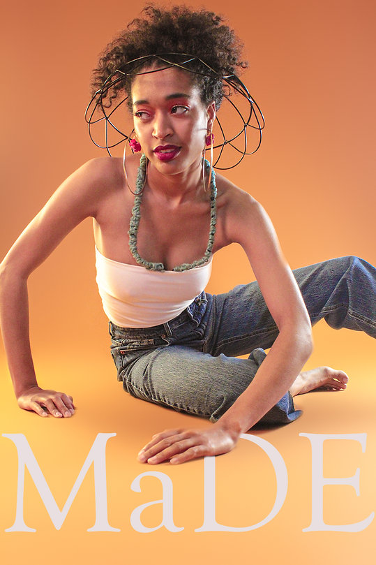 Female model for MaDE fashion studio editorial shot by MXJ Photography