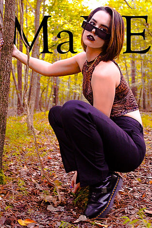 Female model MK for MaDE fashion editorial styled in Motel Rocks and shot by MXJ Photography