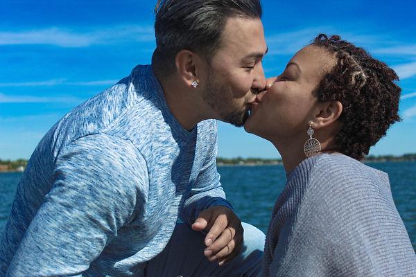 Engagement picutres shot at Yorktown Beach in Yorktown Virginia shot by MXJ Photography