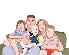 custom family portrait sample