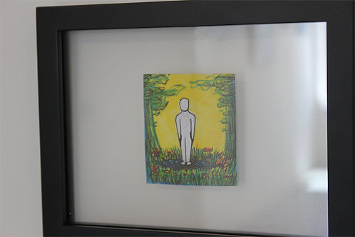 """Everything I Touch"" Original Illustration in 8x10""Frame"