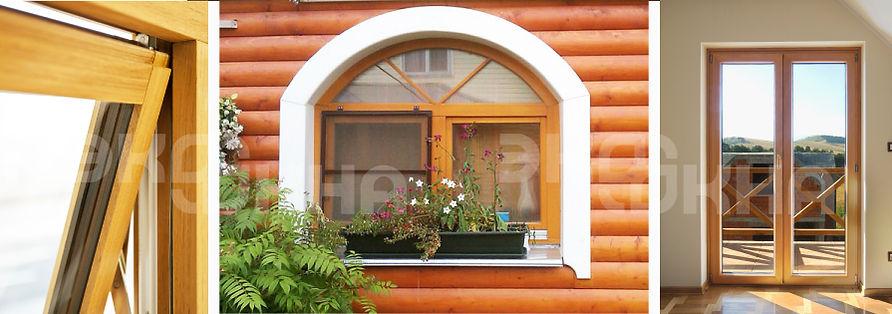 Деревянные окна с доставкой и установкой от Компании Риалит в Кашине, Кесовой Горе и Калязине, достоинства и преимущества деревянных окон