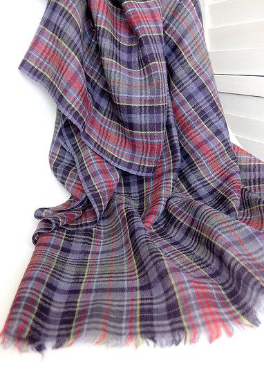 100% Wool Plaid Islay Scarf
