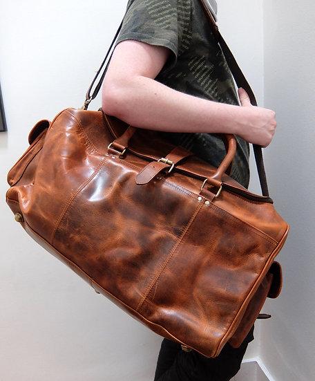 Real Leather Overnighter/Weekender Bag